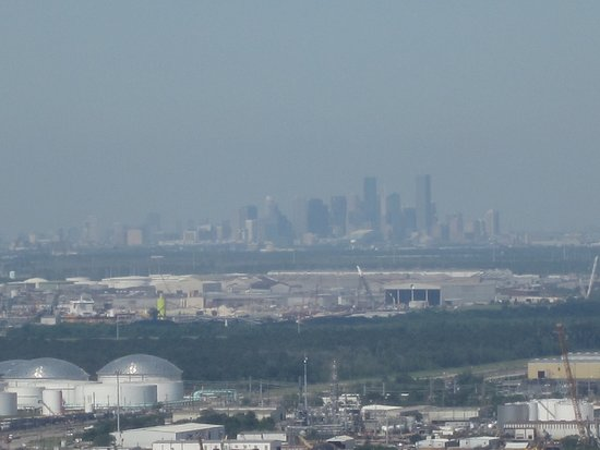 San Jacinto Battleground State Historic Site: View of Houston from the top of the monument