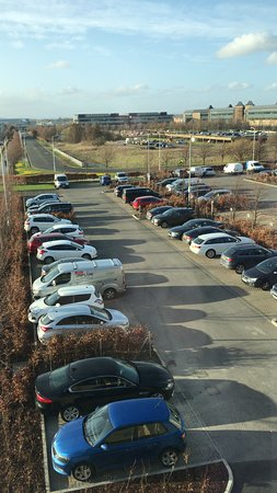 Premier Inn Edinburgh Park (The Gyle) Hotel: View from the room; offices and development plots