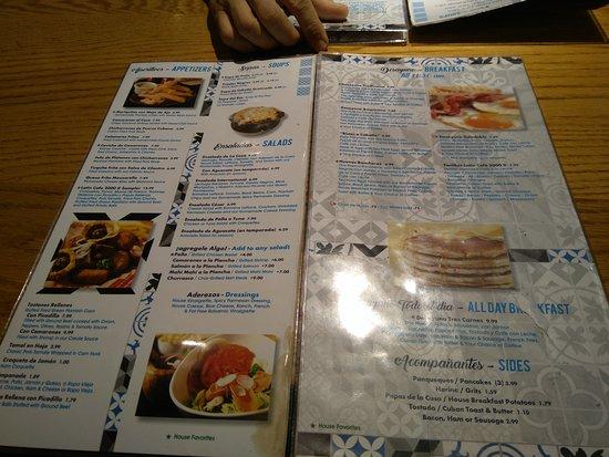 Latin Cafe 2000: Carta