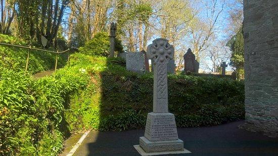 St Austell, UK: Celtic cross outside St Mawgan Church