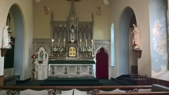 St Austell, UK: The altar of the Carmelite nunnery chapel at St Mawgan