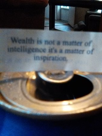 Keystone Heights, FL: Fortune Cookie Note
