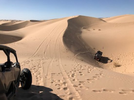 Glamis, แคลิฟอร์เนีย: The hole we rolled down, Jenn's Can Am