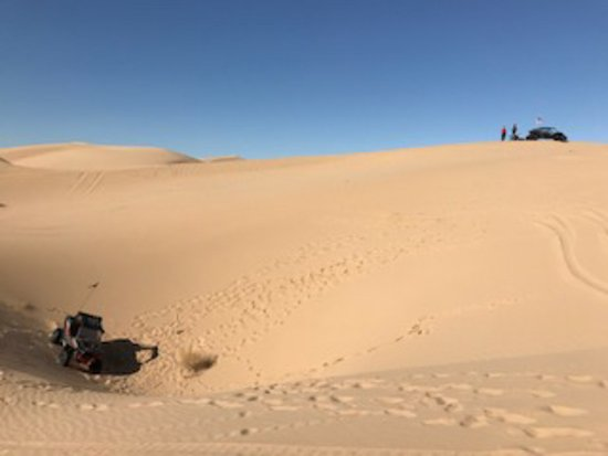 Glamis, แคลิฟอร์เนีย: Our Razor and Dave at the top of the Dunes