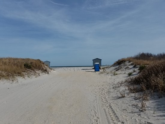 Brigantine Beach: Walk up to the beach, porta potty at right