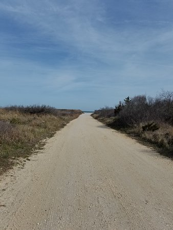 Brigantine, NJ: Trail from parking lot to the beach