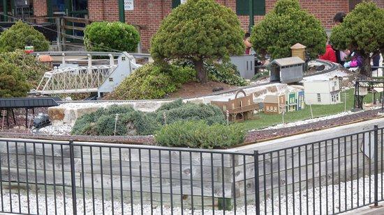 Baltimore and Ohio Railroad Museum: Outside model railroad display.