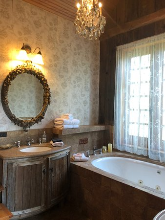 Los Fresnos, TX: Our upstairs private bathroom, there was a downstairs bathroom with a shower also, upstairs tub