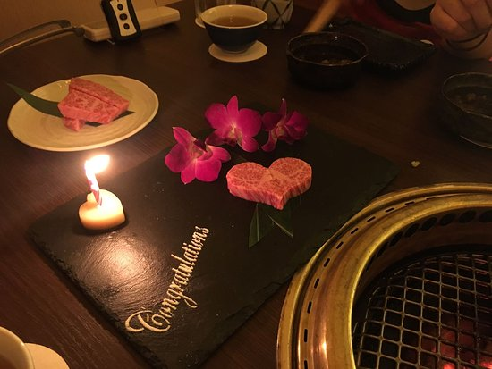 Beef Yakiniku Dining Yakiniquest: Nice touch to final course