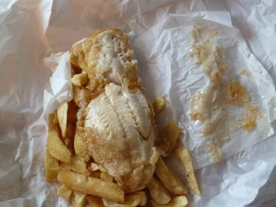 Sea Breeze Fish Bar: Same for second portion,batter sticking to paper