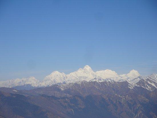 Langtang National Park, Νεπάλ: Anapurna region, Machapuchare and Manaslu as seen from Laurebina