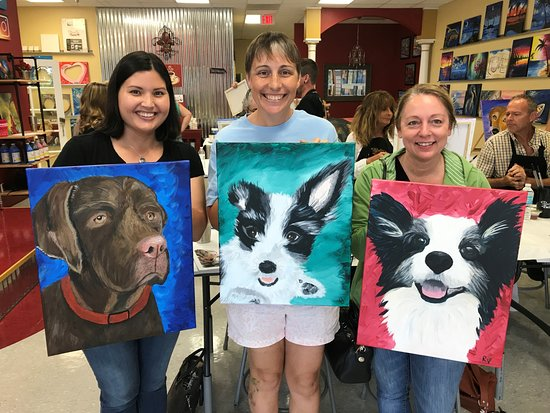 Paint Your Pet Class Picture Of Painting With A Twist Mount Dora