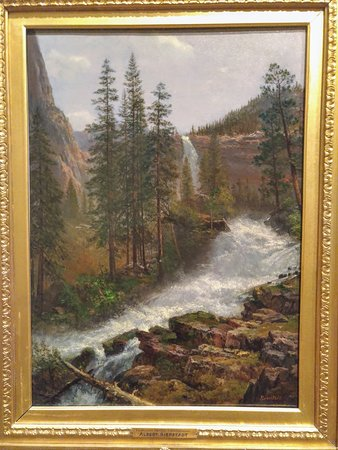 The Rockwell Museum: Nevada Fall, Yosemite (1880) by Albert Bierstadt, Rockwell Museum