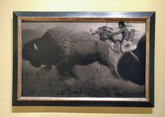 Corning, Nova York: The Buffalo Hunt (ca. 1914-15) by Norman Rockwell, Rockwell Museum