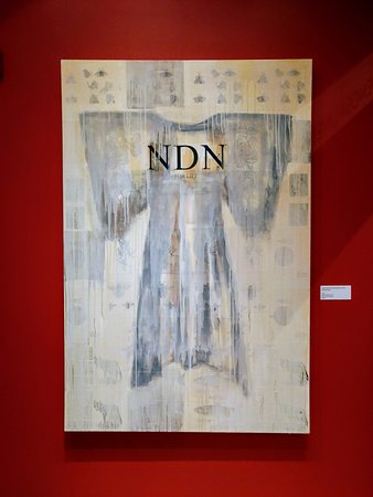 Corning, Nova York: NDN (for life) (2000) by Juane Quick-To-See-Smith, Rockwell Museum