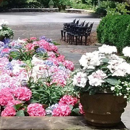 Theodore, AL: Flowers in bloom, plus ample seating