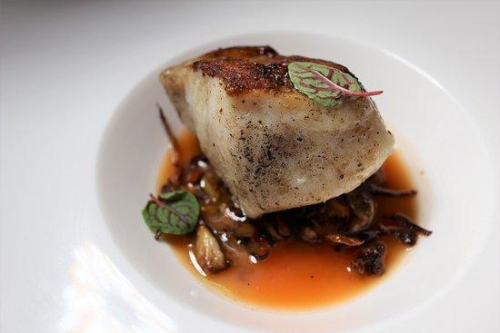 Allentown, NJ: LEMON SHARK shrimp succo, ginger, warm mushroom salad