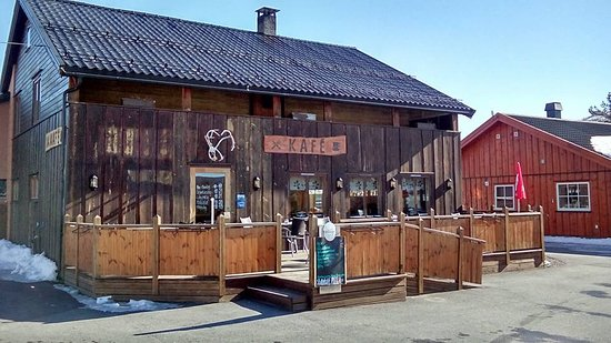 Oppland, Norway: The front of the kafe
