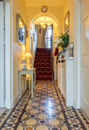 Ings, UK: The beautiful tiled floor in the Hallway sets the scene for the remainder of the house.