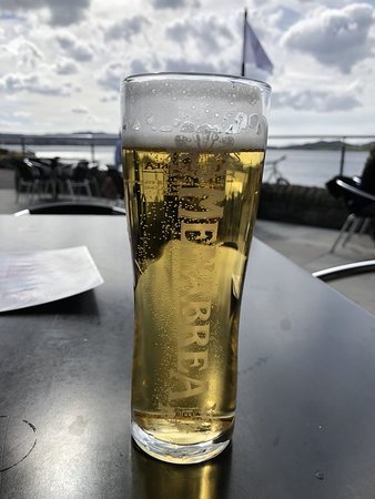 Appin, UK: Italian Beer on outside patio area
