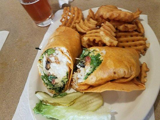 Portage, Wisconsin: Fish taco wrap - yum!