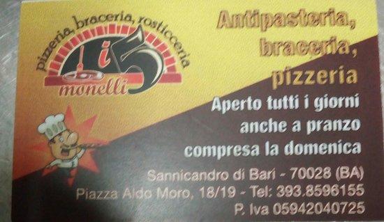 Sannicandro di Bari, Italie : Ristorante pizzeria braceria