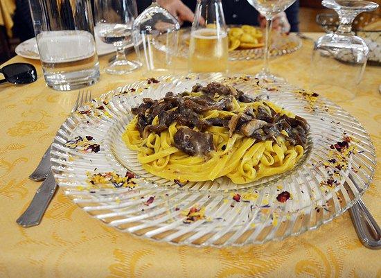 Sefro, Italia: Tagliatelle ai funghi porcini