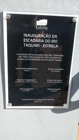 Estrela, RS: Placa.