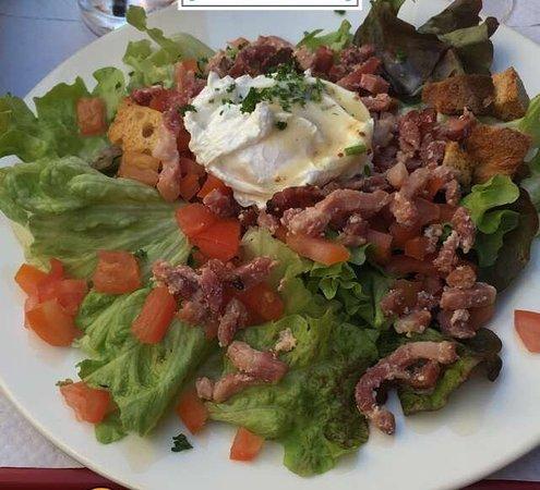 Le Comptoir du Boeuf: Salade lyonnaise