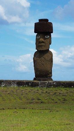 Ahu Tahai: Ahu Ko Te Riku, the moai with eyes