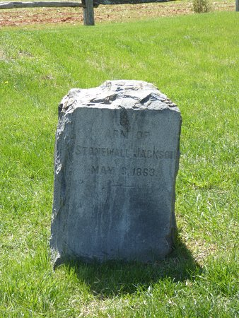 Locust Grove, VA: Marker for Jackson's Arm
