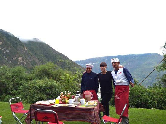 Peru Summit: Just one of the many amazing meals (photo featuring Timoteo and Otto)