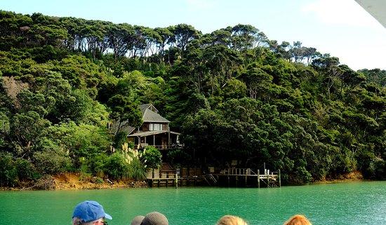 Warkworth, Selandia Baru: Typical bat and jetty