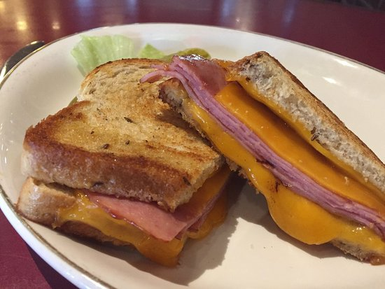 Dayton, NV: Grilled Ham and Cheese on Rye.