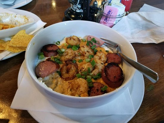 A Lowcountry Backyard Restaurant: Shrimp and Grits
