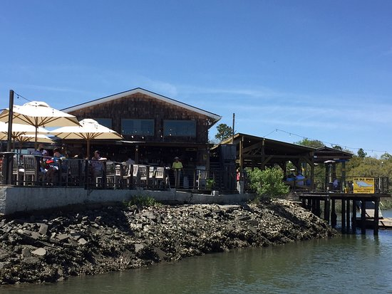 The Wyld restaurant from down on the boat dock