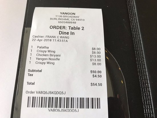 Burlingame, CA: Two Orders of the Crapy Wings! (One Order Was To-Go)