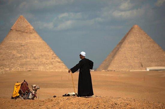 キャメルライディングでギザのピラミッドへの個人指導の半日旅行