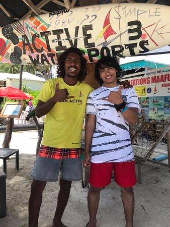 Active Watersports Maafushi: My husband with Nunna