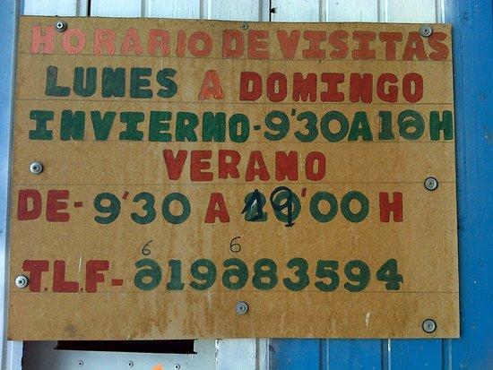 Mejorada del Campo, Spain: Horario de visitas.