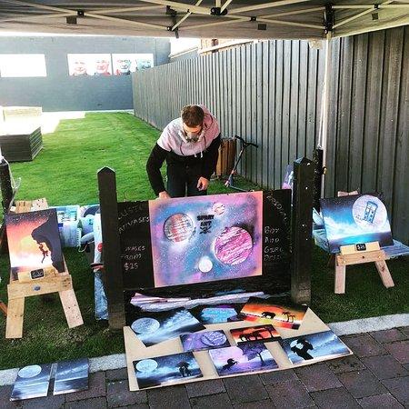 New Norfolk, Australia: The spray art stall (spray art by matt)