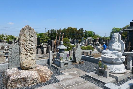 Fukaya, Japan: 満福寺の重忠廟碑。