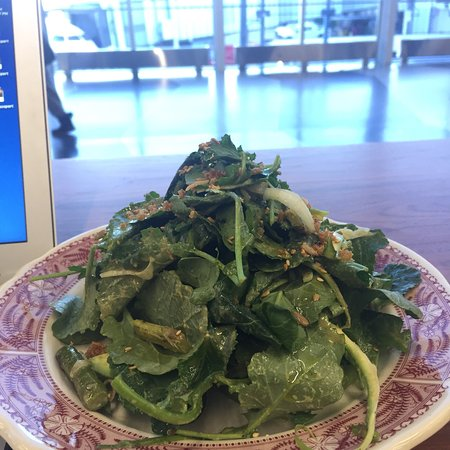 Delicious greens and great people watching