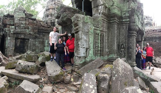 David Angkor Guide - Private Tours: I love how our guide used the panoramic photo to have us in the photo twice. So cool!!!