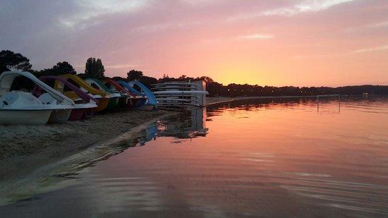 Carcans, فرنسا: La vue pour les balades accompagnés en canoë au coucher de soleil