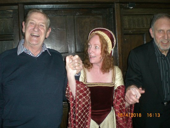 Samlesbury Hall: Lady Jane with her two willing pressed ganged accomplices