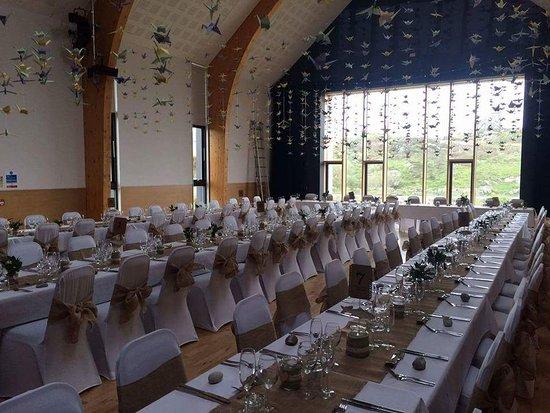 Arinagour, UK: Wedding decoration in the community centre next door