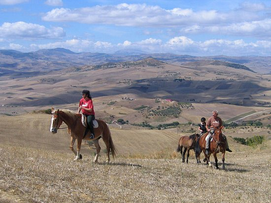 Alia, Italy: Superb views and outstanding riding in the Sicilian hills...