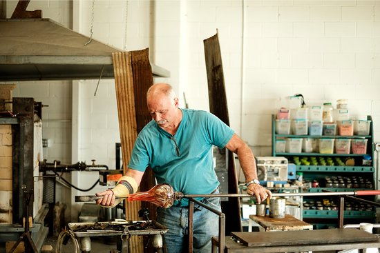 Historic Corydon & Harrison County, IN: A glassblowing demonstration at Zimmerman Art Glass