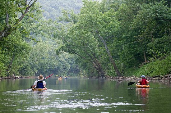 Historic Corydon & Harrison County, IN: Relax on the Blue River with a rental from Cave Country Canoes